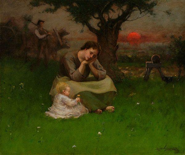 Elliott Daingerfield > Sunset Hour, 1893. The Johnson Collection, LLC. (Spartanburg, SC)