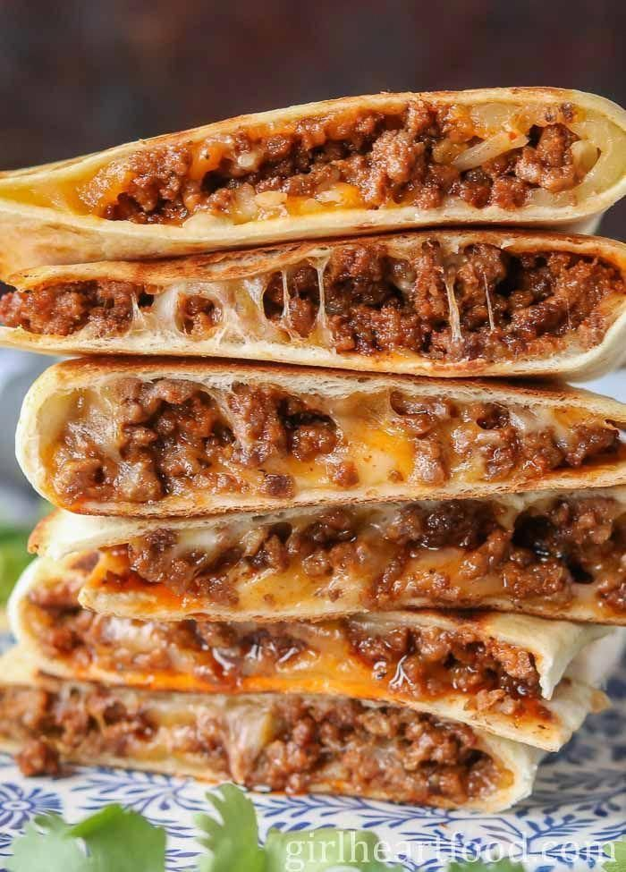 Cheesy Ground Beef Quesadillas Recipe Ground Beef Quesadillas Beef Quesadillas Flavorful Beef