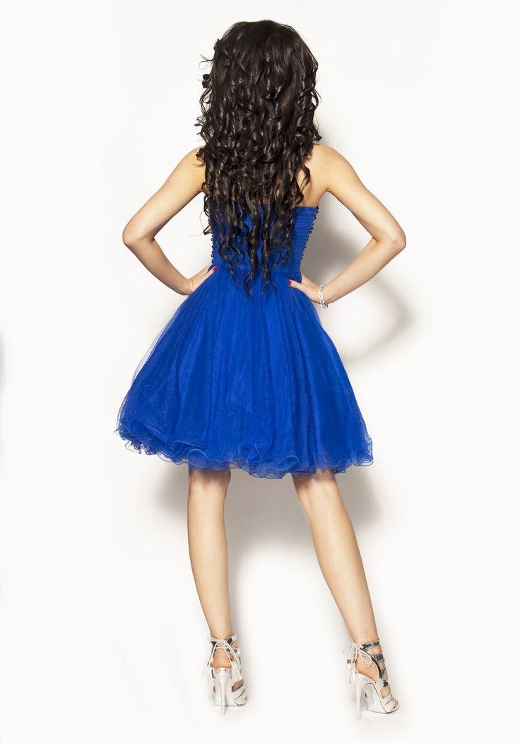 Szafirowa sukienka Model:IP-2196 [319.00zł] - Mini / Sukienki - Sklep internetowy - Sukienkimm.pl