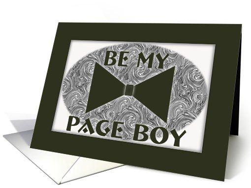 Be My-Page Boy-Black Boe Tie-Wedding Attendant Invitation card. Thank you customer in Essex, United Kingdom!