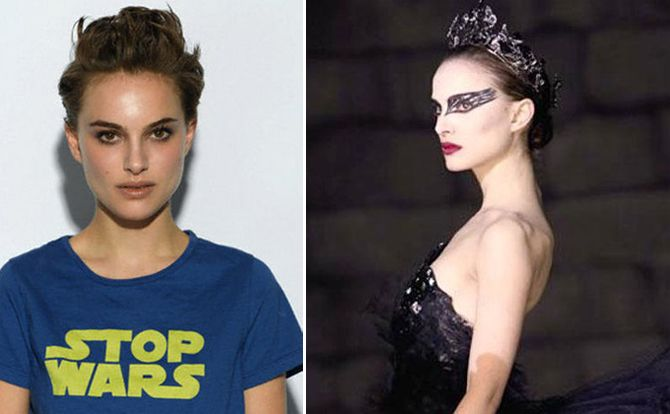 Transformations, To transform herself into a believable ballerina, actress Natalie Portman trained for months with former professional ballerina Mary Helen Bowers for up to eight hours a day with only one day off a week.  Luckily, her amazing transformation was all worth it as Natalie Portman won the Academy Award, the Golden Globe Award, the Screen Actors Guild Award, and the BAFTA Award for her riveting performance of Nina Sayers in Black Swan.