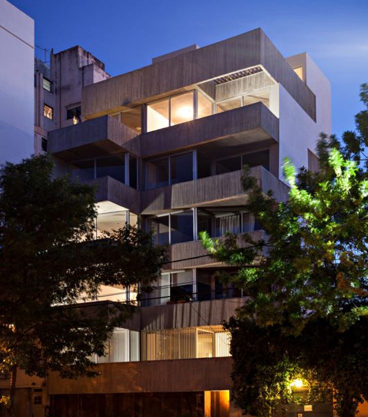Edificio Charlone 960 - Open House Buenos Aires Patio Grande, Facade House, Interior Exterior, Building Design, Architecture Design, Multi Story Building, Mansions, House Styles, Ph