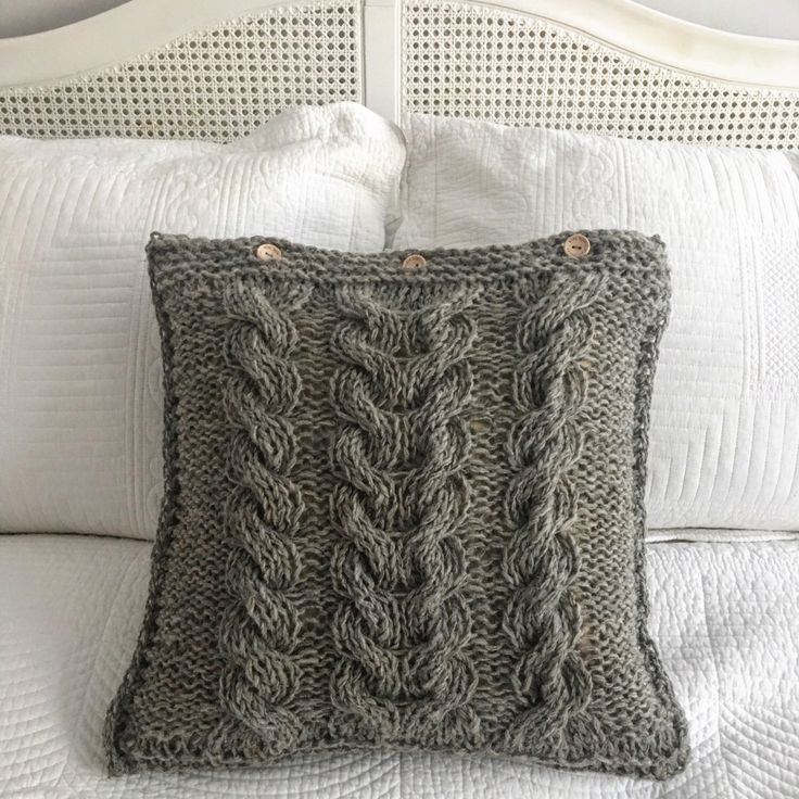 Simple and cosy hand knitted pillowcase. Some addition to your bedroom. There is also a matching blanket. Visit my etsy shop for updates https://www.etsy.com/uk/shop/LooseLoop
