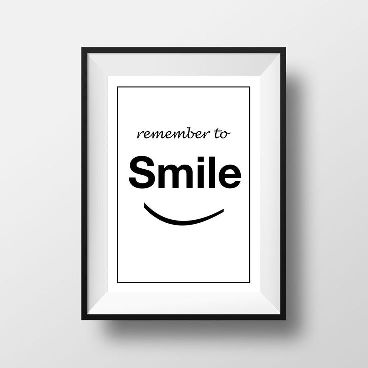 Remember to Smile, Poster, Printable Home Decor, Wall Art, Inspirational Quote, Frasi, Citazioni, That'sAPoster di ThatsAPoster su Etsy