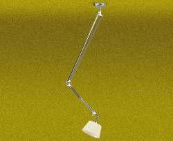 Pendente Articulado Cromado Cúpula Tecido Plissado - Luz Oculta Iluminação Elaborada