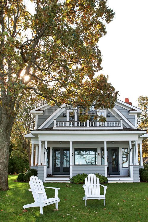 Sea Side Cottage   Beach Style   Exterior   New York   Timeless Homes Benjamin  Moore Silver Gray