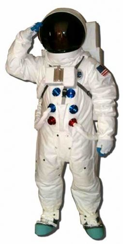 an astronaut in a space suit is motionless in outer space - photo #13
