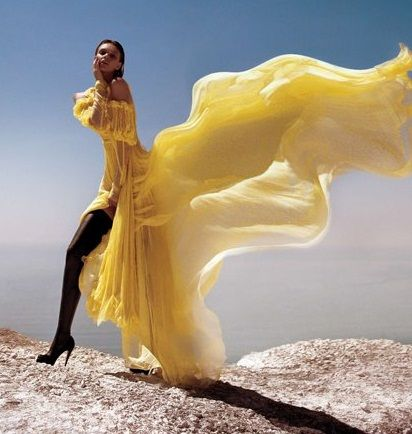 Flowy Dresses in the Wind