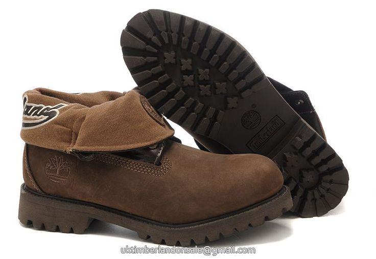 UK Timberland Men Brown Roll-Top Waterproof Boots On Sale £ 76.79