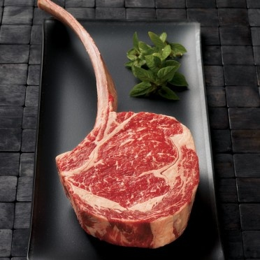 Wagyu Long-Bone Ribeye Steaks    Our Wagyu beef ribeye steak features an 8 to 10 inch bone.