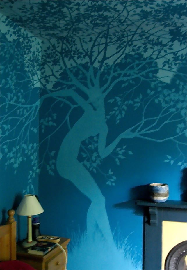 Bedroom Wall Painting Tree : Best ideas about mural painting on