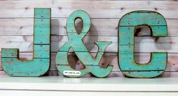 Wedding Letter Set with Ampersand, Wedding Decor - Initials - Custom - Personalized on Etsy, $49.00