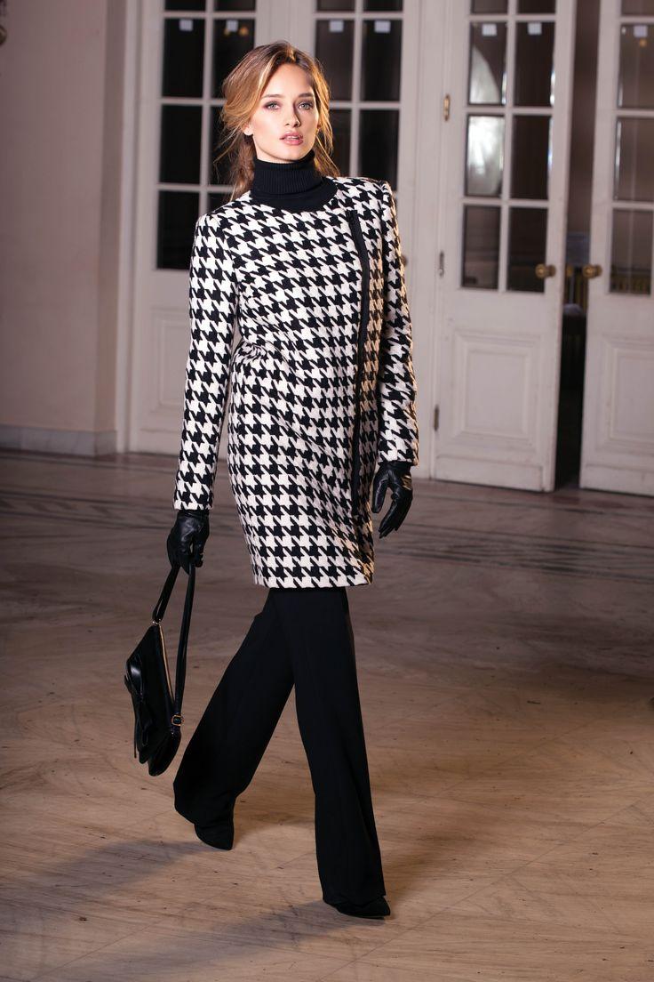 (c) www.nissa.com  #nissa #b/w #black #white #coat #style #fashion #fashionista #model #beautiful