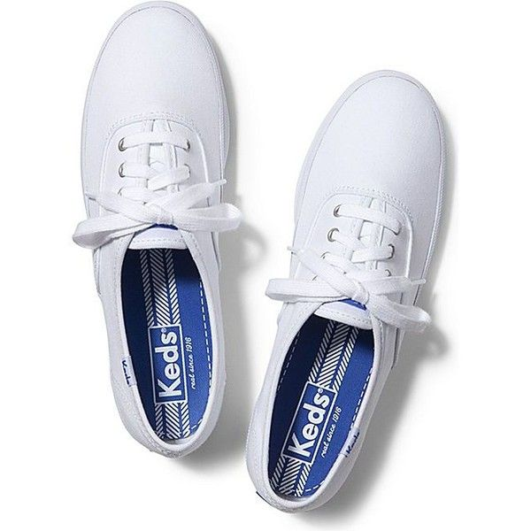 Keds CHAMPION ORIGINALS ($45) ❤ liked on Polyvore featuring shoes, sneakers, white, keds footwear, keds sneakers, flexible shoes, keds shoes and white trainers