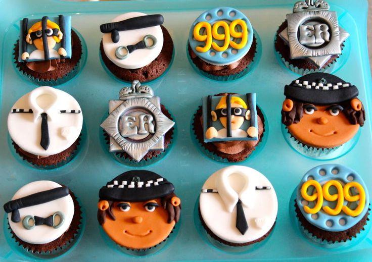 police cupcakes - Cake by nicola thompson