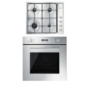 Smeg 60cm Cucina Multifunction Oven and Gas Hob Pack