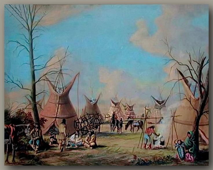 Assiniboine camp in Manitoba circa 1870 by William Armstrong [ca1870]