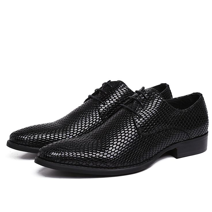 >> Click to Buy << Serpentine pointed toe black derby shoes mens wedding shoes patent leather business shoes mens dress shoes  #Affiliate