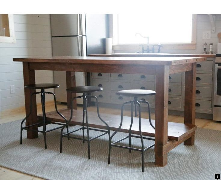 Find More Information On Bar Height Table Click The Link For More Info Viewing The Website Is Wort Diy Kitchen Table Diy Kitchen Island Kitchen Island Plans