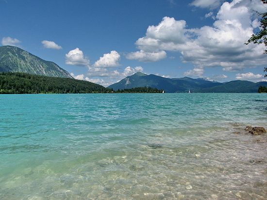 Walchensee (aka Lake Walchen) - one of the deepest and largest alpine lakes in Germany