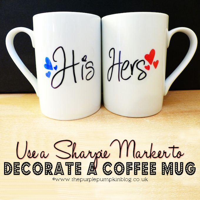 Cup Design Ideas diy how to decorate a mug with permanent marker youtube 50 Unique Sharpie Mug Ideas