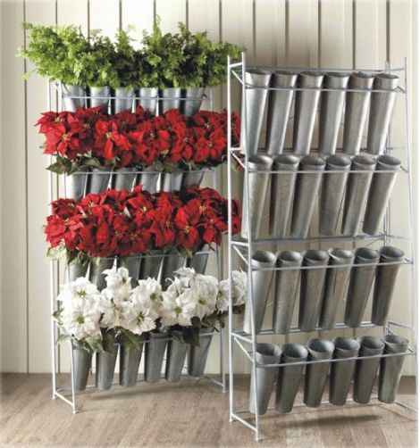 Silk flower display rack with 24 galvanized buckets special silk flower display rack with 24 galvanized buckets special pricing through june 1st floral business ideastools and display pinterest studio mightylinksfo