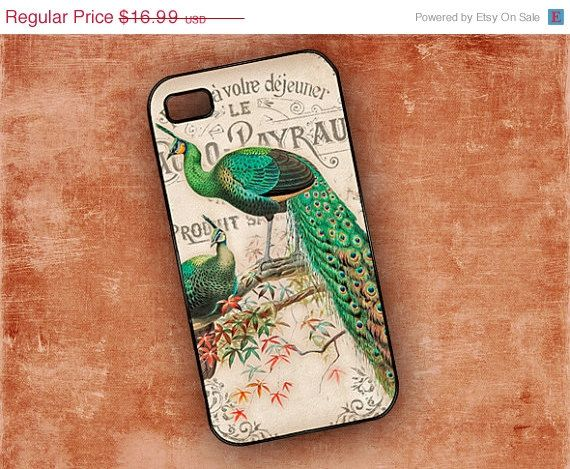SALE Peacock Iphone 5 case Iphone 4 case  by ToGildTheLily on Etsy, $14.99