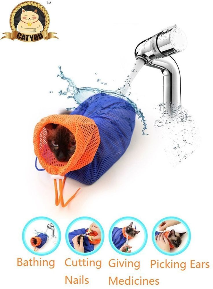 CatYou Cat Grooming Bag Puppy Dog Cleaning Polyester Soft Mesh Scratch and Biting Resisted for Bathing Injecting Examining Nail Trimming ** Wow! I love this. Check it out now! : Cat Grooming