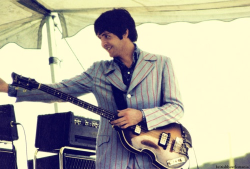 Old Time Cincy - Paul at the Crosley Field Concert, Cincinnati, Ohio. August 21, 1966.