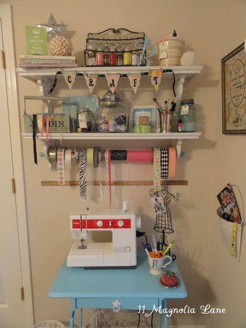 craft cornerSmall Crafts, Crafts Area, Sewing Area, Small Corner, Crafts Room, Crafts Items, Creative Organic, Crafts Corner, Guest Rooms