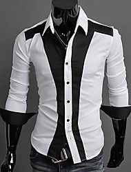 Men's Casual Long Sleeve Slim Shirt – AUD $ 35.16