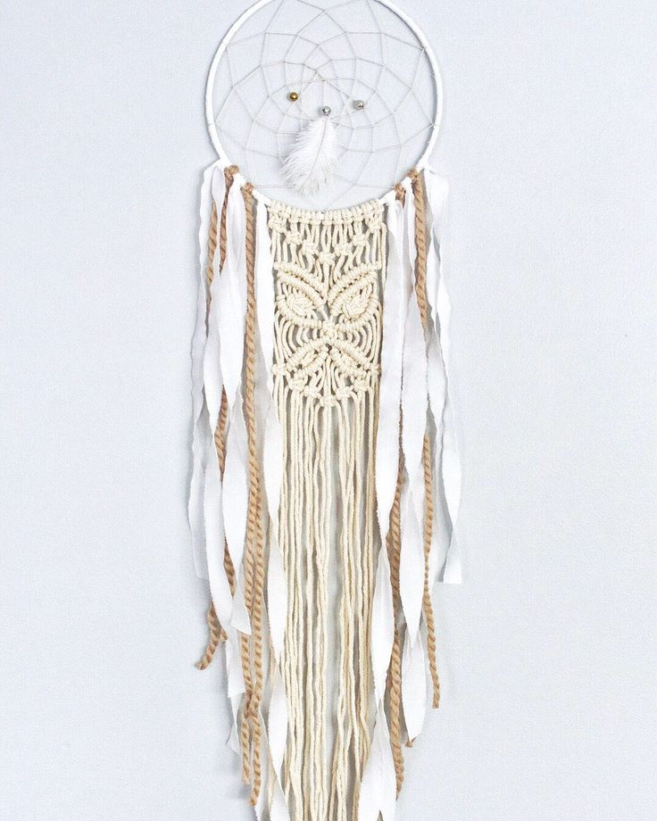 Boho macrame dreamcatcher, dream catcher, boho chic dreamcatcher, boho wall hanging, eclectic dreamcatcher, boho nursery decor by autumnandlilydesigns on Etsy https://www.etsy.com/ca/listing/577661344/boho-macrame-dreamcatcher-dream-catcher