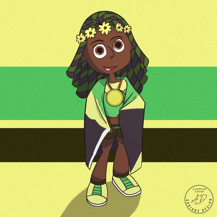Did an illustration of Shelly-Ann Fraser-Pryce.