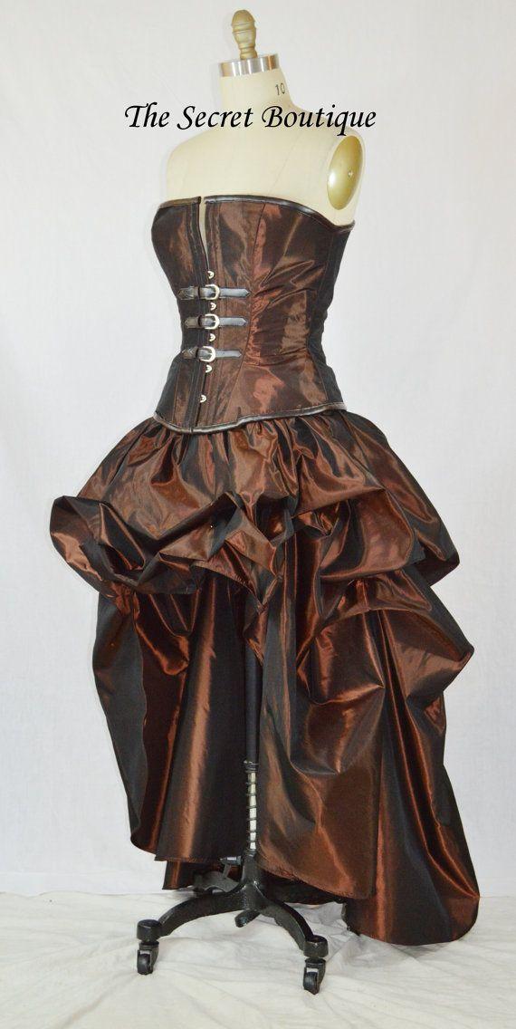 steampunk skirtsteampunk bridal skirt hi low bustle