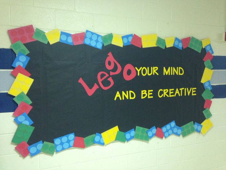 Lego bulletin board - everyone is awesome at our school                                                                                                                                                      More