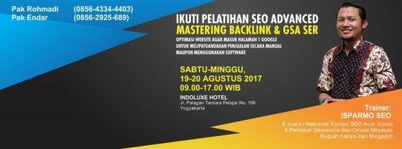 Kursus SEO Advance / Mahir / Lanjutan Jogja 19-20 Agustus 2017