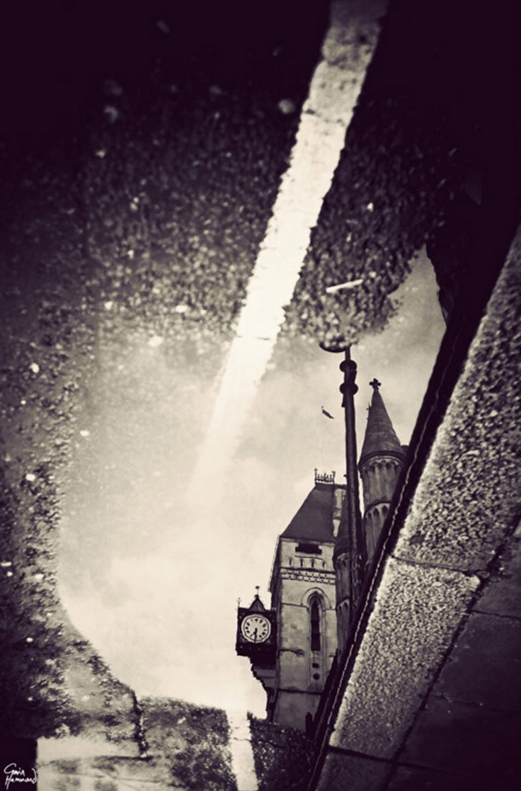 London in puddles