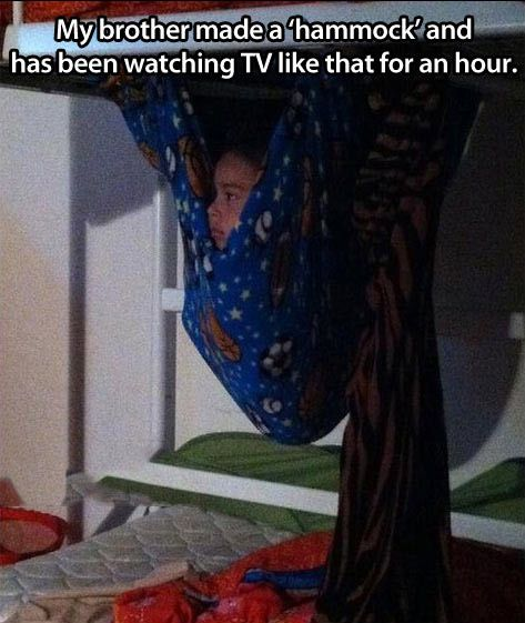 I used to do that all the time on my bunk bed