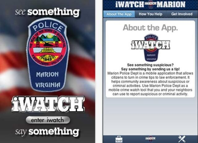 Virginia Police Released A New App For Receiving Crime Reports Easily - The Marion Police Department in Virginia has released a new iOS app named iWatch Marion. This app is free and police will get crime report from citizens easily. [Click on Image Or Source on Top to See Full News]