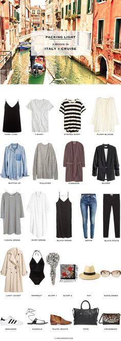 What to pack for Italy and a Mediterranean Cruise Packing List Fall October…