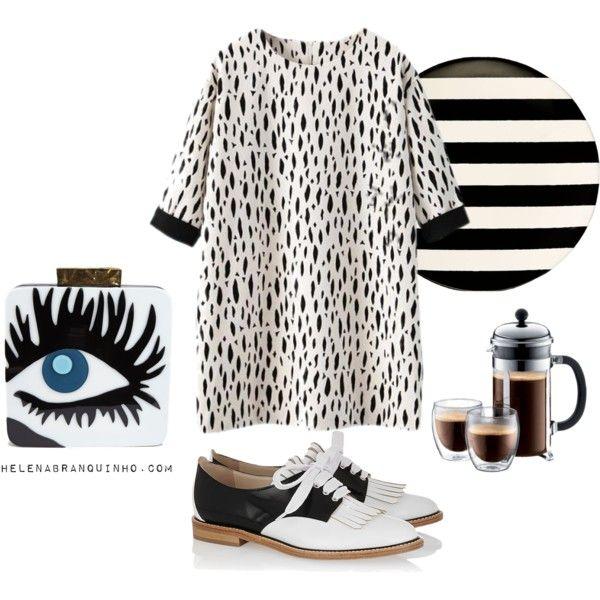 Sunday Mood by helenabranquinho on Polyvore featuring moda, Oscar de la Renta, Kate Spade, personalstyle and helenabranquinho