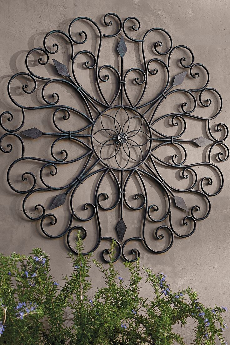 Outdoor wall art - Gracie Iron Wall Art