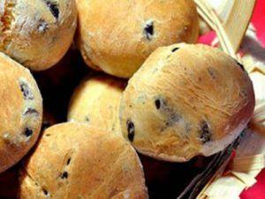 Рецепт постных булочек с маслинами