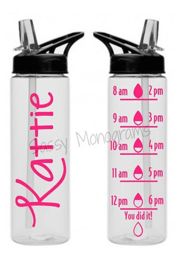 Loving this personalized water bottle - makes sure you're drinking enough!