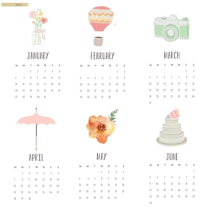 2013 Calendar  ON SALE -  4x6 desk calendar - for work home school - wall calendar - pretty flowers - watercolor. $10.00, via Etsy.