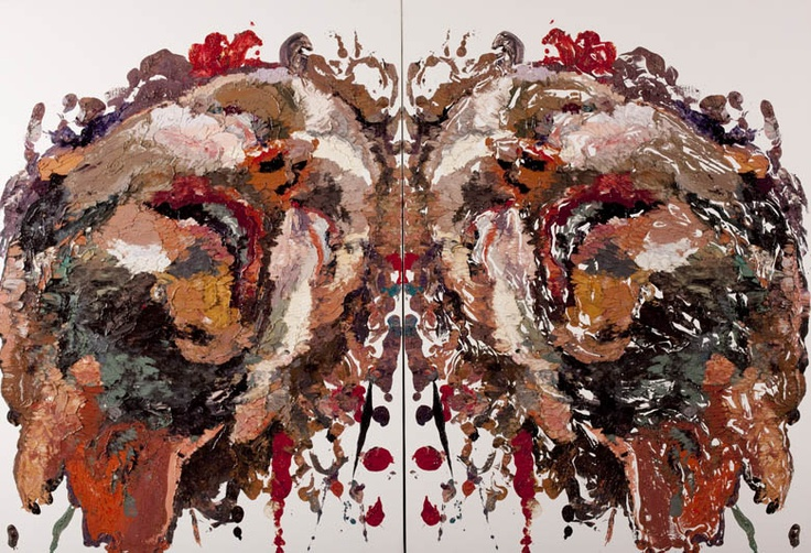 'Mushy Monoprint Project' look at Ben Quilty's Rorschach work - get students to place a photocopy of their face under a sheet of Perspex and on top fill shapes of face with thick impasto paint (acrylic w/ medium or oils) and place a piece of canvas paper on top and press down all over (firmly) and then lift print: Ben Quilti, Saatchi Galleries, Artists Ben, Self Portraits, Prudenti Eye, Ben Quilty, Smash Rorschach, Eye Awards, Oil