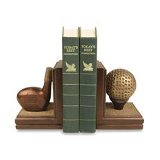 Sterling Home Golf Club with Ball & Tee Bookends (bed bath and beyond)