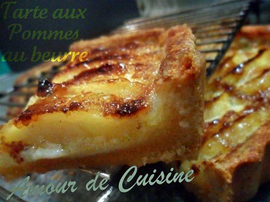 Tarte aux pommes au beurre - Amour de cuisine