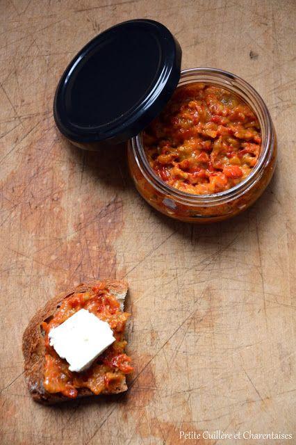 LEGUMES D'ETE CONFITS (poivrons rouges, aubergine, tomates, huile d'olive, vinaigre de cidre, ail, persil, sucre, piment fort ou piment d'Espelette, sel)