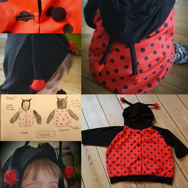 Mariehøne hoodie str. 11 mdr. Kan anvendes som forårsjakke Ladybug hoodie
